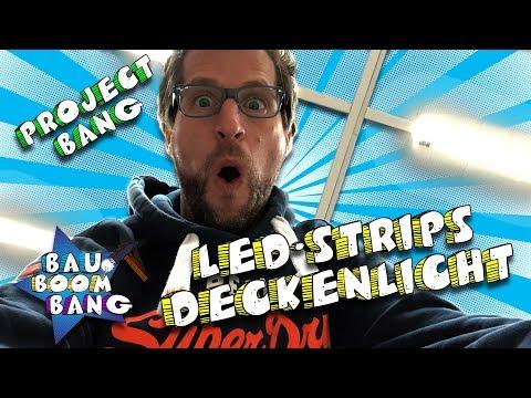 LED-Strips als Deckenlicht / Klasse Licht Idee! *Project Bang*