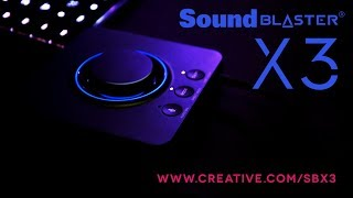 sound Blaster X3 - Hi-Res 7.1 External USB DAC and Amp Sound Card with Super X-Fi for PC and Mac