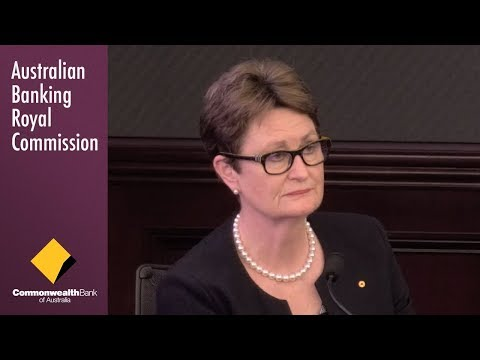 The chairwoman of the board of Commonwealth Bank testifies at the Banking Royal Commission