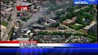 Fire Crews Battle Massive Fire At Scrap Metal Company