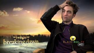 Rob Pattinson Interview for Twilight Breaking Dawn Part 2!