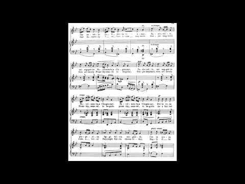 17 Se tu m'ami, se sospiri (24 Italian Songs and Arias) piano melody and accompaniment
