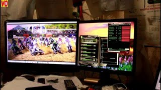 How to Test Game performance MXP2 motocross stable game, car games, kids games OC Card 7850