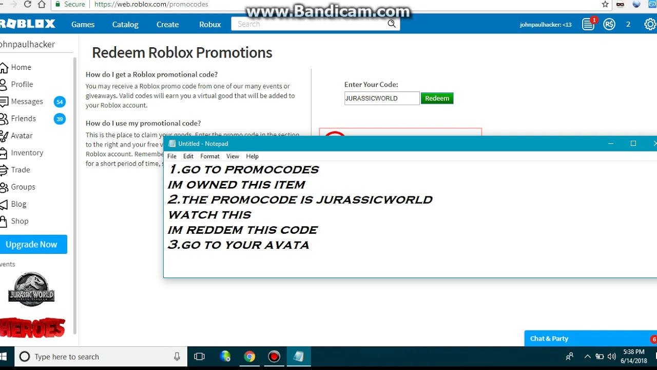roblox chat codes redeem