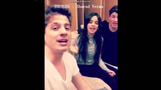 """Charlie Puth , Shawn Mendes and Camila Cabello singing """"Sorry"""" by Justin Bieber. #BieberWeek"""