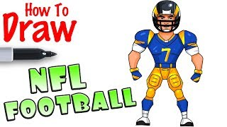 How to Draw NFL Football Player | Fortnite