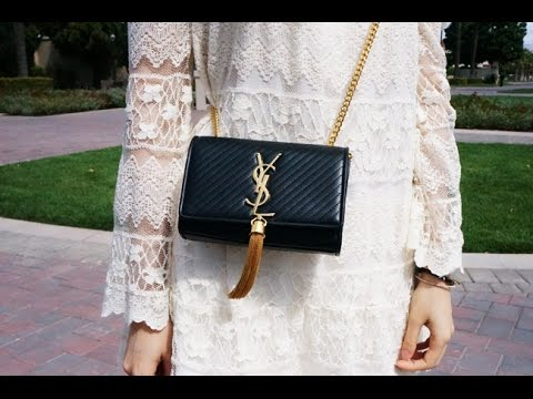 saint bag - Reveal: YSL Saint Laurent Cassandre Tassel Clutch - YouTube