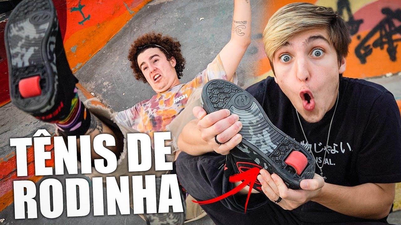 Download TENIS DE RODINHA NA PISTA DE SKATE!!!