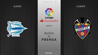 Rueda de prensa Alavés vs Levante