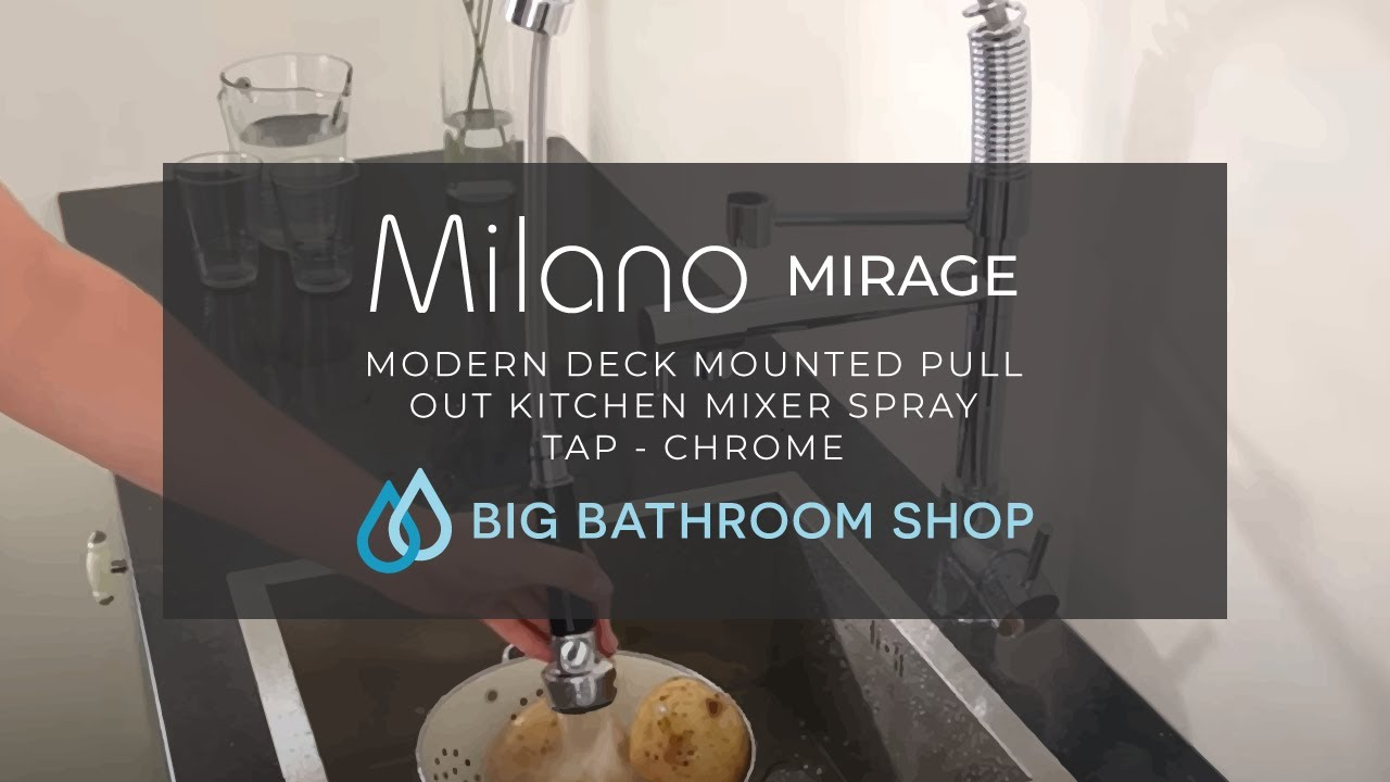 Milano Chrome Professional Kitchen Mixer Tap - YouTube