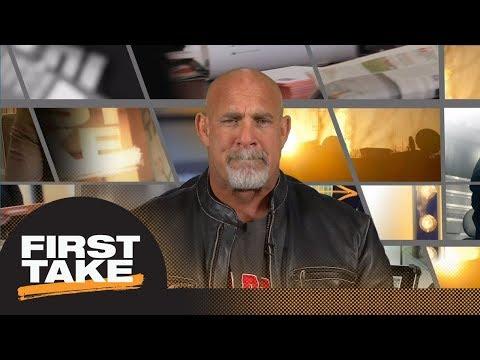 WWE legend and former Georgia DT Goldberg talks CFP Championship vs. Alabama | First Take | ESPN