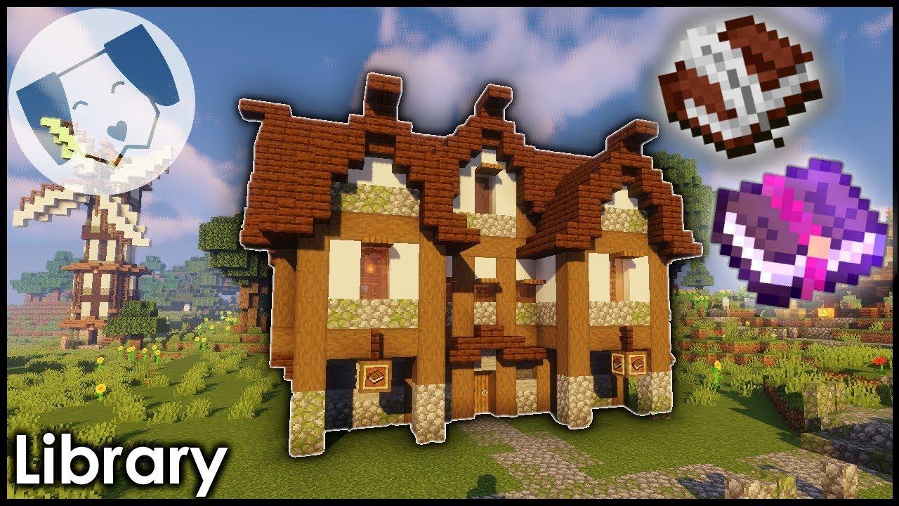 Minecraft: Medieval Enchanting Library Tutorial!