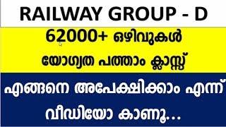 How To Apply  Indian Railway Group D Malayalam and Syllabus|  എങ്ങനെ അപേക്ഷിക്കാം | A2Z tricks PSC