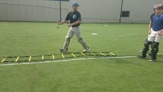 ladder block drill for baseball catchers