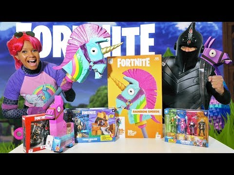 Fortnite Toy Challenge- Bright Bomber Vs. Black Knight ! || Toy Review || Konas2002