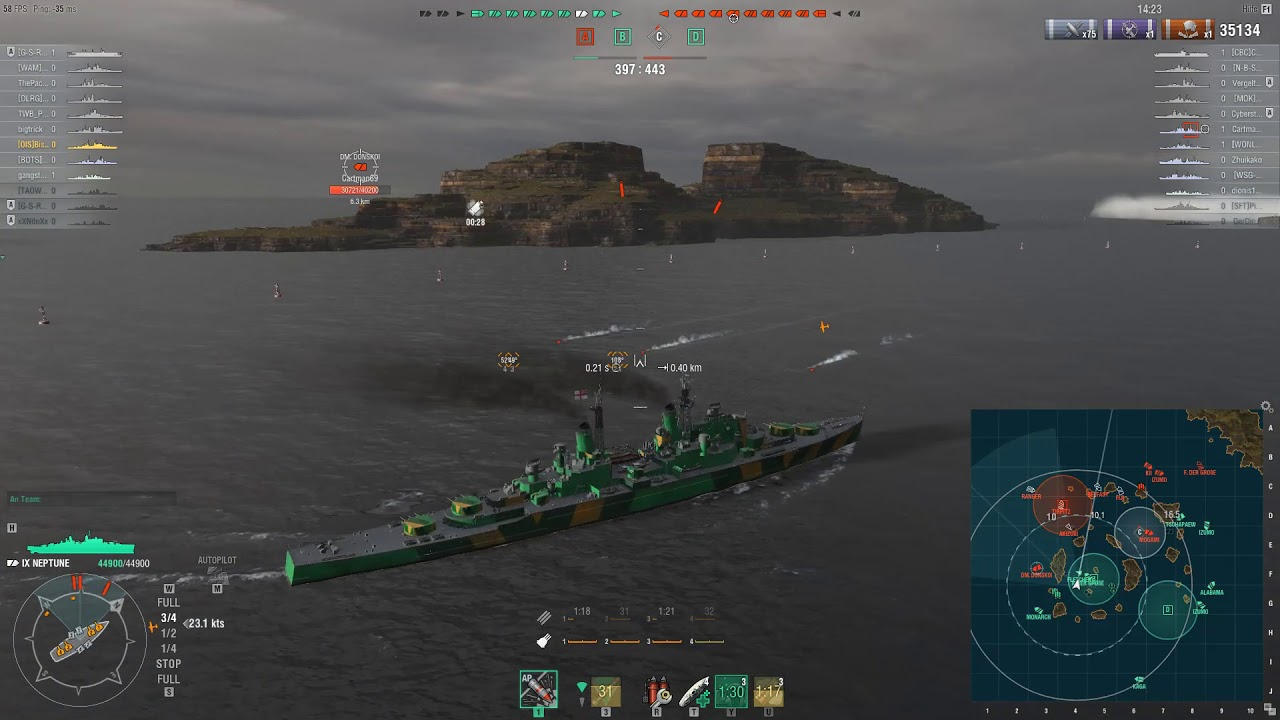 WoWs Neptune DD Support
