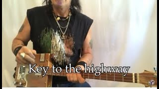Key to the highway blues Big Bill Broonzy lesson for 3 string Cigar Box Guitars