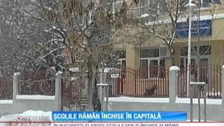 Școlile rămân închise în Capitală