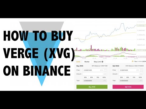 VERGE (XVG) : HOW TO BUY & SELL ON BINANCE