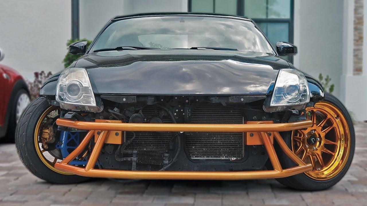 350Z goes FULL DRIFT CAR. - YouTube