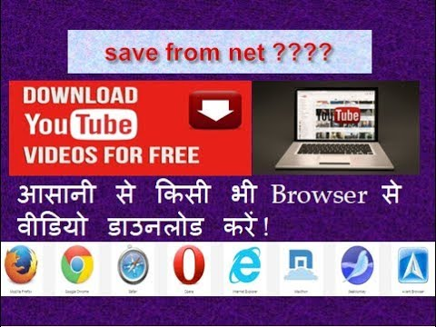 Best video downloader for PC / Best Youtube downloader / save from net tutorial