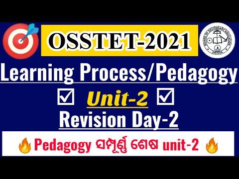 Learning Process Pedagogy|Revision|Day-2|ସମ୍ପୂର୍ଣ୍ଣ  CDP Unit-2 Cover|OSSTET U0026 CHT|osstet Pedagogy