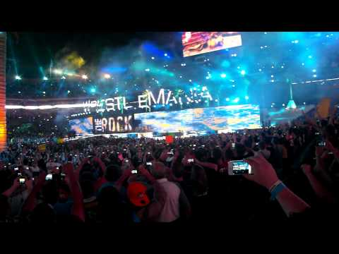 Wrestlemania 28 - The Rock Full Entrance - Florida - Good Feeling - Wild Ones -04/01/12