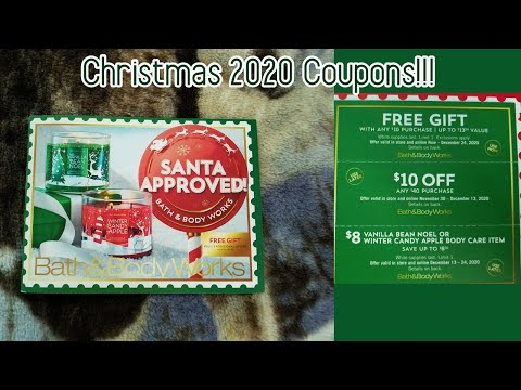 😍🎄Bath and Body Works Christmas 2020 Coupons! GREAT DEALS