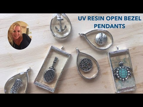 (38) UV RESIN OPEN BEZEL PENDANTS
