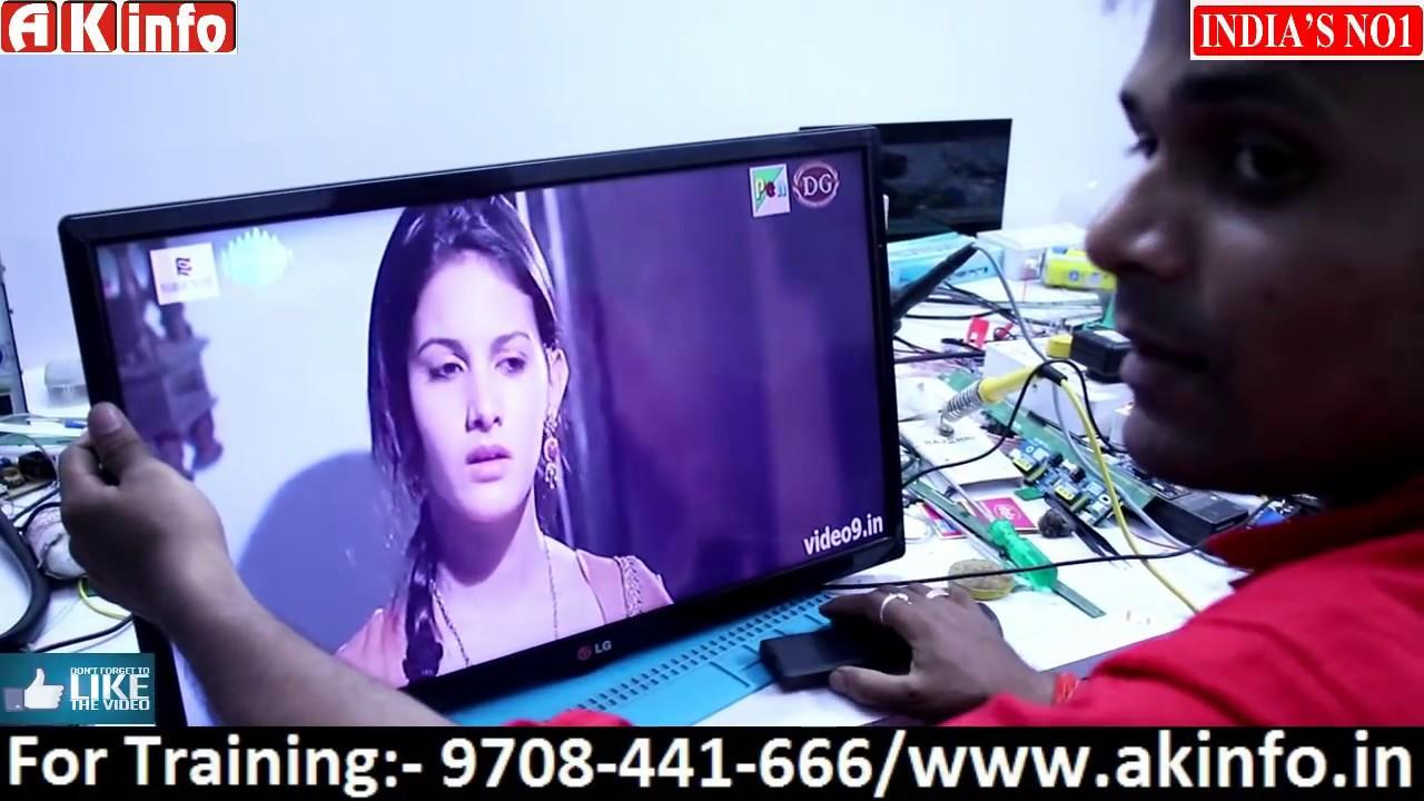 universal board fitting & configure process in LED TV easy tutorial By  Niranjan soni