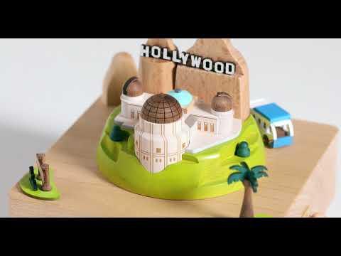 Los Angeles Wooden Music Box