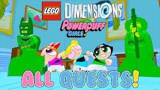 LEGO Dimensions All Powerpuff Girls Quests (Mojo Jojo, Professor Utonium, Princess Morbucks & more)