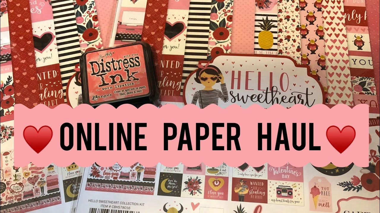 Online Scrapbook Haul Lots Of Paper Youtube