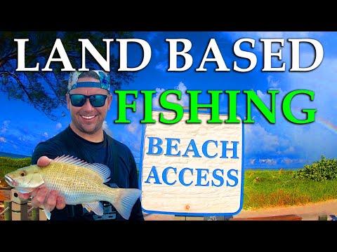 Landbased Snapper Fishing - Anna Maria Island, Florida Tour - (Spanish Mackerel) Beach Fishing!