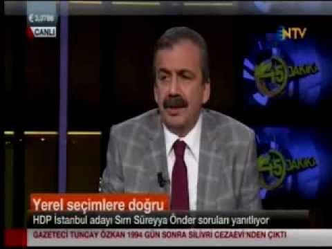Sırrı Süreyya Önder NTV'de Mehmet Barlas'la 45 Dakika Programında 10.03.2014