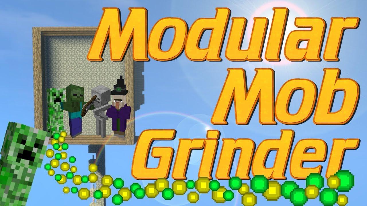 How To Make A Mob Farm In Minecraft Easy Survival Friendly Mob Grinder Minecraft Modular Mob Farm Youtube