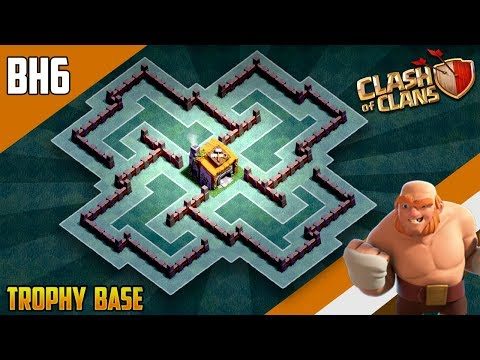 BEST BH6 ANTI EVERYTHING TROPHY[defense] Base 2019 Builder Hall 6 Trophy Base Design- Clash Of Clans