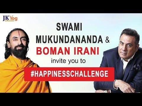 Swami Mukundananda and Boman Irani Invite You to the Happiness Challenge