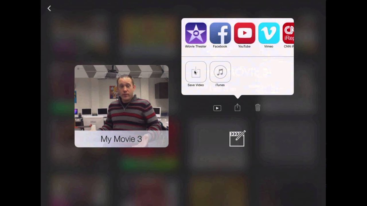 Exporting iMovie (for iPad) Projects to Camera Roll - YouTube