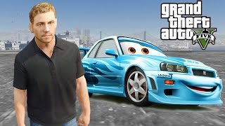 Grand Theft Auto V Mods - Racing Brian O'Conner (Paul Walker Fast And Furious7) Nissan Skyline GT-R