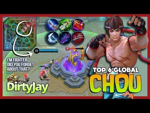 King of the Fighter Full Damage Build? Why Not? D̶i̶r̶t̶y̶Jay̶ Top 6 Global Chou ~ Mobile Legends