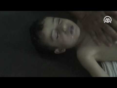 AA Suriye'deki kimyasal silah katliamının yeni görsellerini ortaya çıkardı