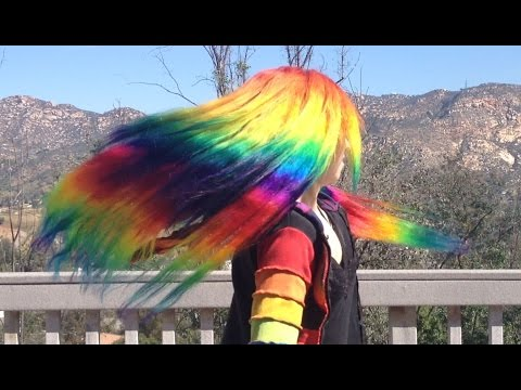 How to Dye Hair Extensions Rainbow & VP Fashion Review