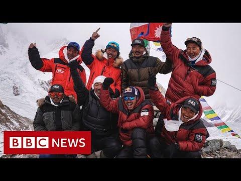 Nepalese climbers make first K2 winter summit – BBC News