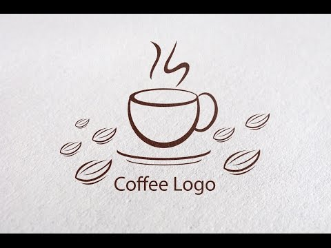 Adobe illustrator CC : How to Create a Coffee Logo Design for Cafe or Shop #1