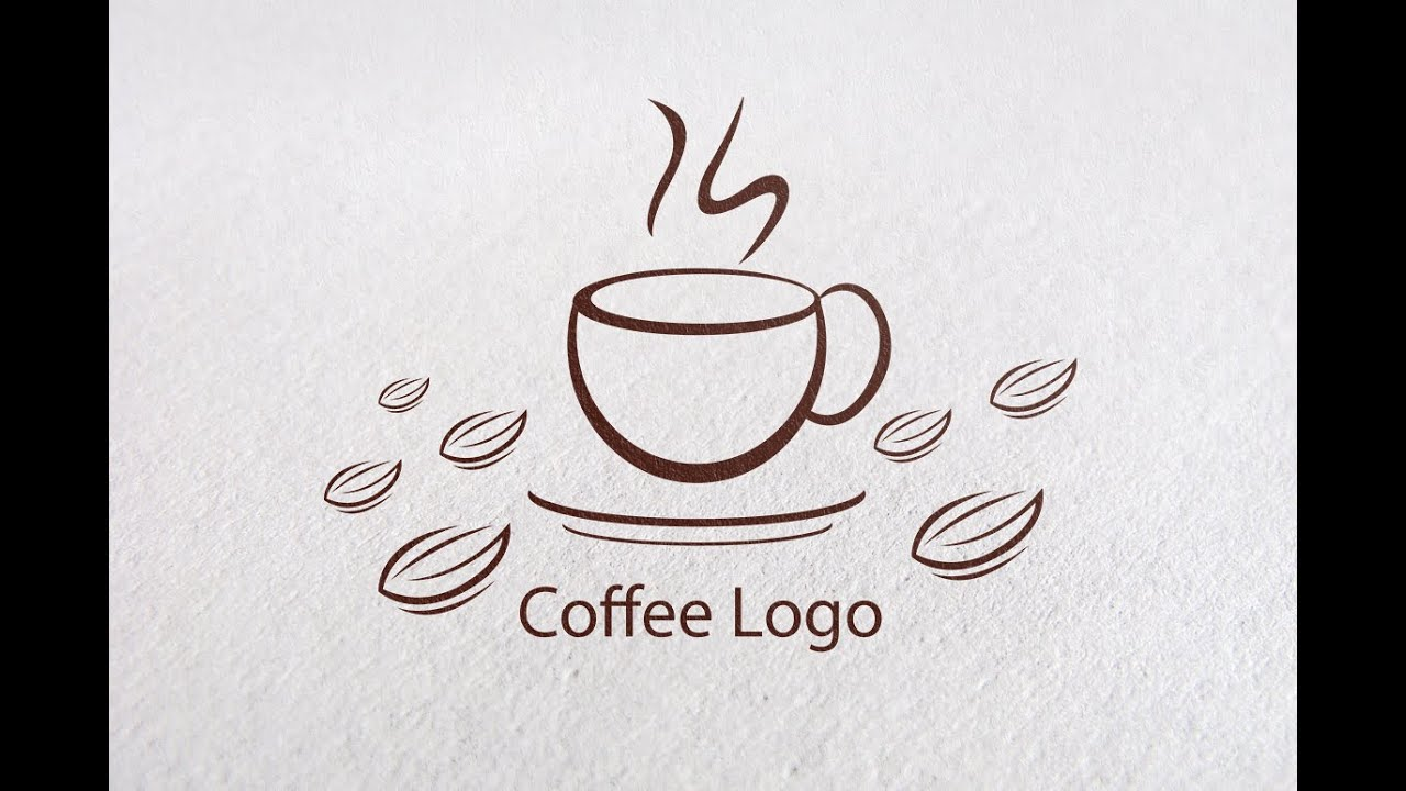 Adobe illustrator CC : How to Create a Coffee Logo Design for Cafe ...