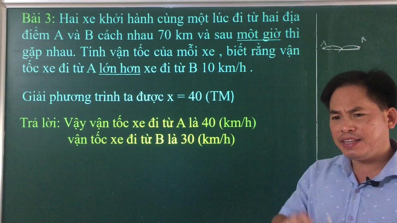 Toán 8. Chuyên đề giải bài toán bằng cách lập phương trình (tiếp).
