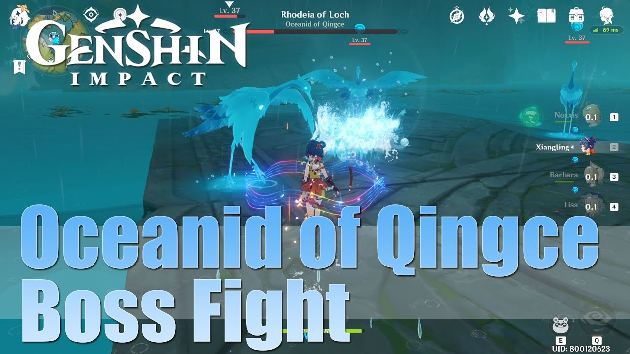 Genshin Impact Rhodeia Of Loch Oceanid Of Qingce Youtube