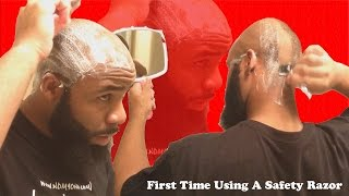 Shaving A Bald Head With A Safety Razor + High Time Bump Stopper 2