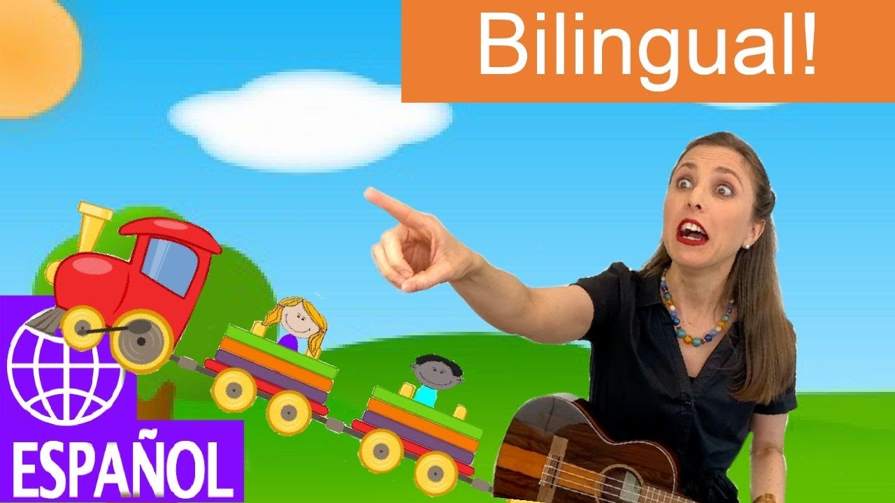 Kids Songs About Trains In Spanish By Alian Celeste El Tren Se Va Learn Bilingual Music Youtube